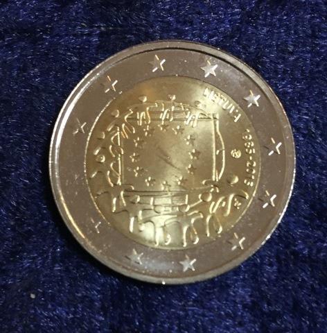 Litauen Flagge 2015 2 Euro 30 Jahre Eu Flagge Euro Münzen