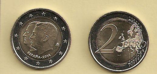 2 Euro Münze Spanien 2014 Thronwechsel Notaphila