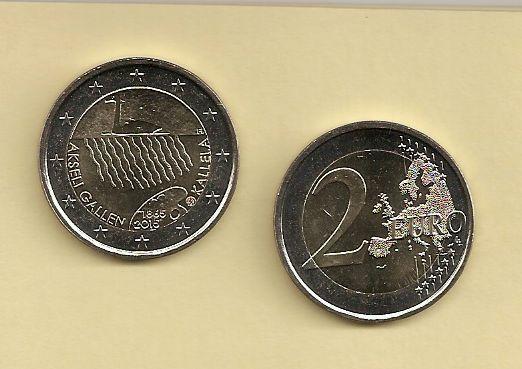 2 Euro Finnland 2015 Geburtstag Akseli Gallen Kallela Euro