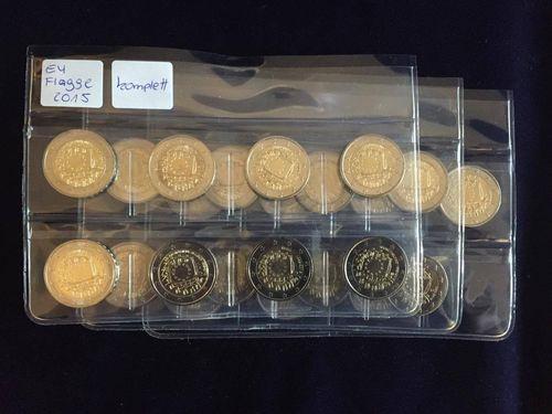 2 Euro Münzen 30 Jahre Eu Flagge 2015 Komplett Kaufen