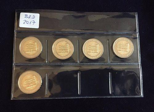 2 Euro Deutschland Rheinland Pfalz 2017 Adfgj Komplett Euro Münzen