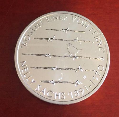 20 Euro Münze Deutschland Nelly Sachs 2016 Notaphila
