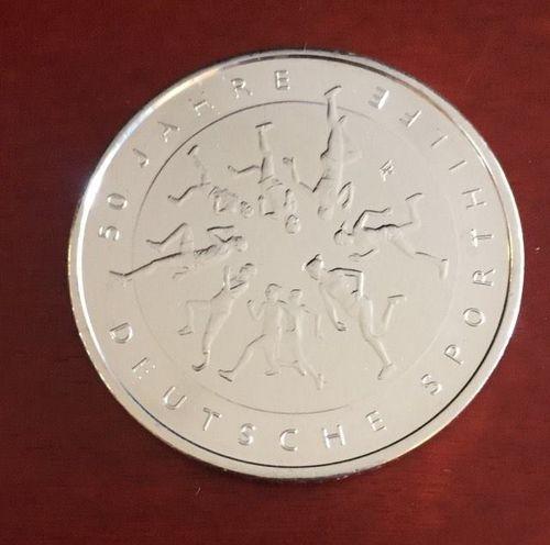 20 Euro Münze Deutschland 50 Jahre Deutsche Sporthilfe 2017 Notaphila