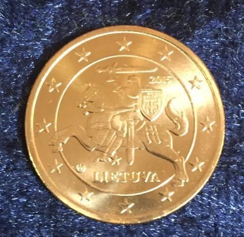 Litauen 2 Cent 2015 Euro Münzen Banknoten Geldscheine Notgeld