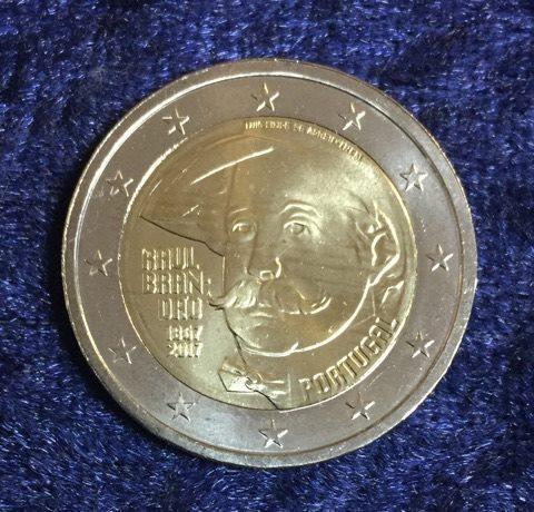 2 Euro Portugal 2017 Raoul Brandao Euro Münzen Banknoten