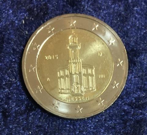 2 Euro Deutschland Hessen 2015 A Euro Münzen Banknoten