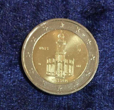 2 Euro Deutschland Hessen 2015 D Euro Münzen Banknoten