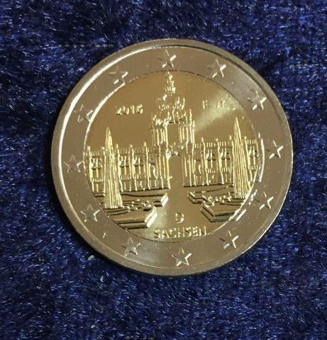 2 Euro Deutschland Sachsen 2016 F Euro Münzen Banknoten