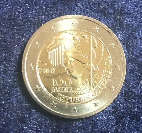 2 Euro österreich 2018 100 Jahre Republik Euro Münzen Banknoten