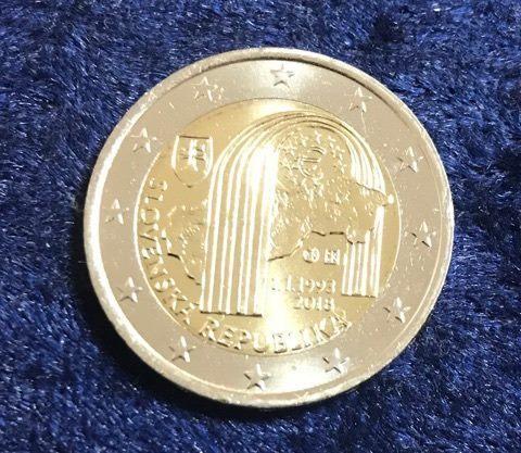 2 Euro Slowakei 2018 Gründung Der Republik Euro Münzen Banknoten