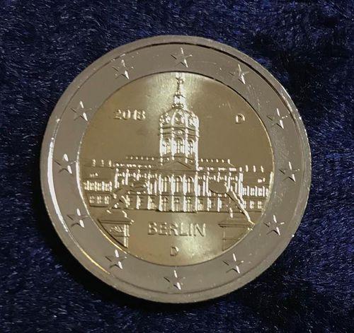 2 Euro Deutschland Berlin 2018 D Euro Münzen Banknoten