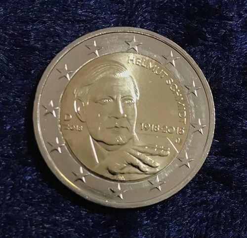 2 Euro Deutschland Helmut Schmidt 2018 D Euro Münzen Banknoten