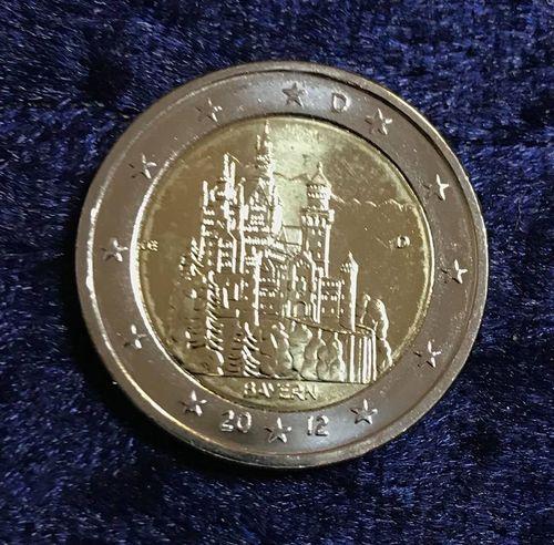 2 Euro Münze Deutschland 2012 Bayern Schloss Neuschwanstein