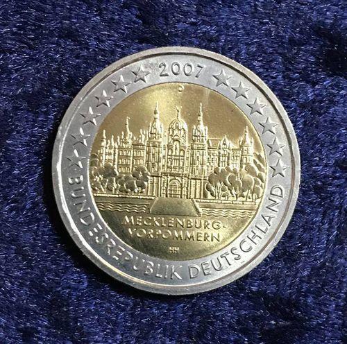 2 Euro Deutschland 2007 Schweriner Schloss Mecklenburg Vorpommern
