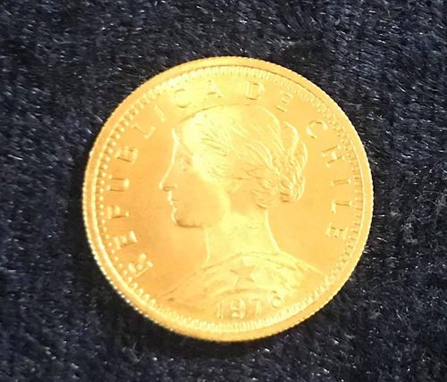 Chile 20 Pesos gold 1976