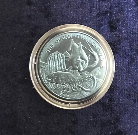 "Titan Farb-Gedenkmünze South Georgia & the South Sandwich Islands 2 Pounds 2016 ""Twilight"""